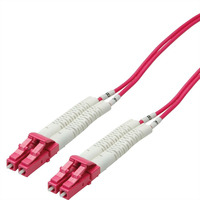 Value 50/125µm, LSOH, LC/LC, OM4, 0.5 m Fiber optic kabel - Violet