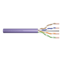 Digitus Câble d'installation à paire torsadée Cat 6 U-UTP Câble de réseau - Violet