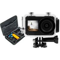 Salora Une ActionCam Ultra HD (4K) double écran comprenant un étui rempli d'accessoires Sports d'action caméra .....