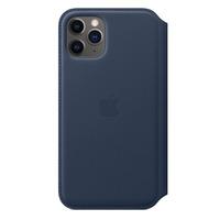 Apple Leren Folio-hoesje voor iPhone 11 Pro - Diepzeeblauw