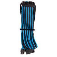 Corsair Premium Individually Sleeved ATX 24-Pin Cable Type 4 Gen 4, Blue/Black - Noir,Bleu