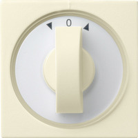 GIRA Cover with toggle switch for time switch and blinds switch or button - Blanc