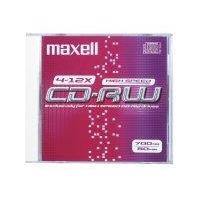 Maxell CD-RW 700MB 80Min 1-10x HighSpeed JC 10pk CD