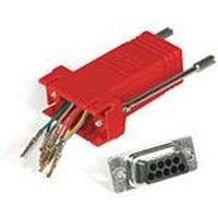C2G RJ45/DB9F Modular Adapter Kabel adapter - Rood