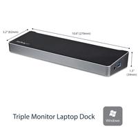 StarTech.com Triple monitor USB 3.0 docking station 1x HDMI 2x DisplayPort Docks & port replicator - .....