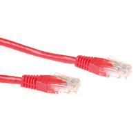 ACT Rode 0,5 meter UTP CAT6 patchkabel met RJ45 connectoren Netwerkkabel - Rood