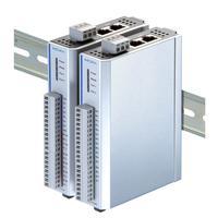 Moxa Ethernet Remote I/O, 2 Port 10/100 Mbps Ethernet switch, 6 RTDs, 12-36 VDC Netwerk verlengers - Zilver