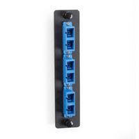 Black Box Platine de raccordement fibre Adaptateurs de fibres optiques - Noir,Bleu