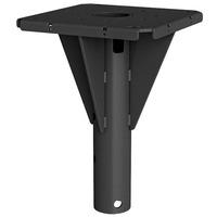 Chief Outdoor Concrete Ceiling and Pedestal Plate, 181.4 kg, Black - Noir