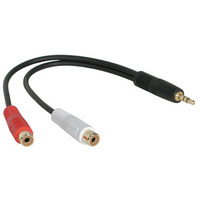 C2G Value Series 3.5mm Stereo Plug/RCA Jack x2 Y-Cable - Zwart
