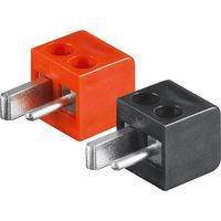 Microconnect Loudspeaker plug set Prises de courant électriques - Black, Rouge