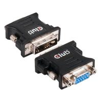 CLUB3D DVI to VGA Passive Adapter Kabel adapter - Zwart