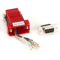 Black Box Adaptateur de couleur DB9 à RJ-45 (non monté) Adaptateur de câble - Rouge