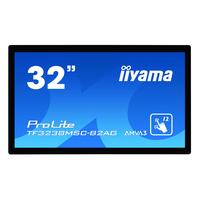 "Iiyama TF3238MSC-B2AG, 80.01 cm (31.5"") , 1920x1080, 16:9, 8ms, capacitif projeté, VGA, DVI, HDMI, DP, RS-232C, ....."