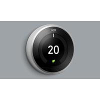 Google Nest Learning Thermostat - Acier inoxydable