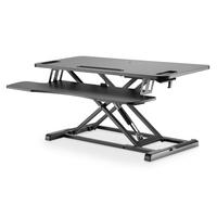 Digitus Poste de travail assis/debout réglable en hauteur 950 x 615 x 106-460 mm ; clavier avec tablette pour .....