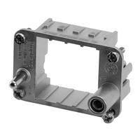 Amphenol Frame for 2-pin modules, Size E6 Multipolaire connectie behuizing - Metallic