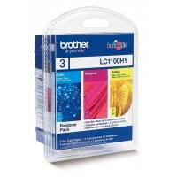 Brother INK CARTRIDGE LC1100 XL 3 COLORS Cartouche d'encre - Cyan,Magenta,Jaune