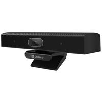 Sandberg All-in-1 ConfCam 1080P HD Webcam - Zwart
