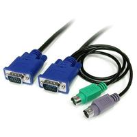 StarTech.com Câble pour Switch KVM VGA avec PS/2 3 en 1 - 1.80m Câbles KVM - Noir