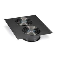 "Black Box Dual 10"" Fan (1100-cfm) Top Panel for Elite Cabinets Rack toebehoren - Zwart"