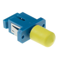 ACT Fiber optic SC-ST simplex adapter Glasvezel-adapters - Blauw,Geel