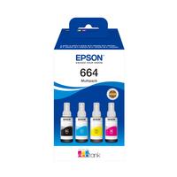 Epson 664 EcoTank 4-colour Multipack - Zwart,Cyaan,Magenta,Geel