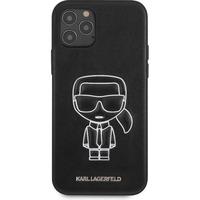Embossed Backcover iPhone 12 (Pro) - Zwart - Zwart / Black