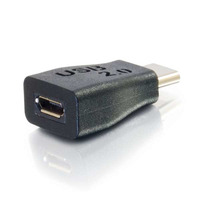 C2G USB-C/USB-Micro B M/F Kabel adapter - Zwart