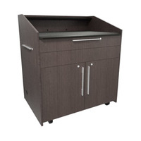 "Middle Atlantic Products L5 Series Preconfigured Lectern, 43"" W x 31"" D x 39"" H, Asian Night, 2 ....."