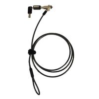 Port Designs Security Cable Keyed - Noble Wedge Slot Verrous de câble - Noir,Laiton