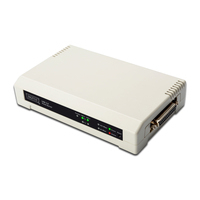 Digitus USB & Parallel Print Server, 3-Port 1x RJ45, 2x USB A, 1x DB-36-pin male Centronics Serveur d'impression .....