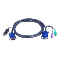 Aten 2L5503UP Câbles KVM - Noir