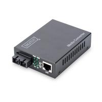 Digitus Fast Ethernet, RJ-45/SC Convertisseur réseau média - Noir