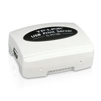 TP-LINK Single USB2.0 Port Fast Ethernet Print Server Serveur d'impression - Noir,Blanc