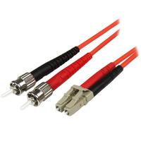 StarTech.com Câble Réseau - Jarretière Fibre Optique Duplex Multimode 50/125 OM2 LC - ST - LSZH - 2 m .....