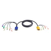 Aten Câble KVM 1,8m PS/2 avec SPHD 3 en 1 et audio Câbles KVM - Noir