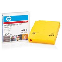 Hewlett Packard Enterprise custom gelabelde tapes LTO-3 Ultrium 800GB RFID Datatape - Geel