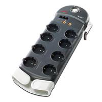 APC Performance SurgeArrest 8 Outlets w/ Phone / Coax Protection 230V Germany Spanningsbeschermer - Zwart