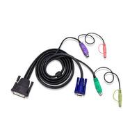 Aten 33ft PS/2 Câbles KVM - Noir