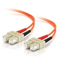 C2G 3m, SC-SC, 50/125, OM2, Duplex Multimode, PVC, Orange Fiber optic kabel - Oranje