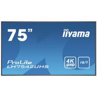 Iiyama PROLITE LH7542UHS-B3 Public Display - Zwart