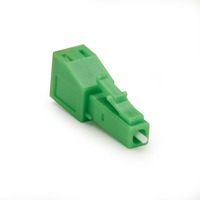 Black Box Fiber Optic In-Line Attenuator - Angled, Singlemode, LC-APC, 02-dB - Vert