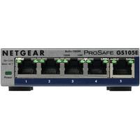 Netgear ProSAFE Unmanaged Plus - GS105E - 5 Gigabit Ethernet poorten Switch - Grijs