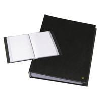 Rillstab A4, 80 pcs, generfd kunststof - Zwart