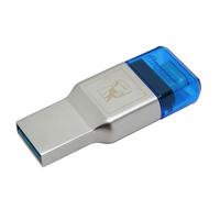 Kingston Technology MobileLite Duo 3C Lecteur de carte mémoire - Bleu, Argent