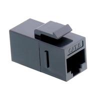 Value RJ-45 Keystone Modular Coupler, Cat.6, unshielded, black Patch panel accessoire