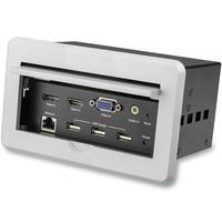 StarTech.com Inbouw AV box voor vergadertafel 4K - Zilver