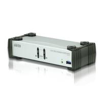 Aten Commutateur KVMP™ DisplayPort 2 ports USB 3.0 (câbles inclus) Commutateur KVM - Noir,Gris