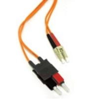 C2G 1m LC/SC LSZH Duplex 62.5/125 Multimode Fibre Patch Cable Fiber optic kabel - Oranje